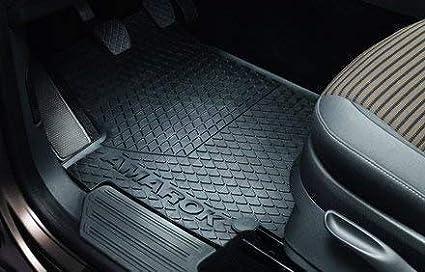 Volkswagen Alfombrilla de Goma Original Amarok Trasera Negro Doble Cabina 2h1061500/a 82/V Juego de Alfombrillas para 4/Piezas Parte Delantera