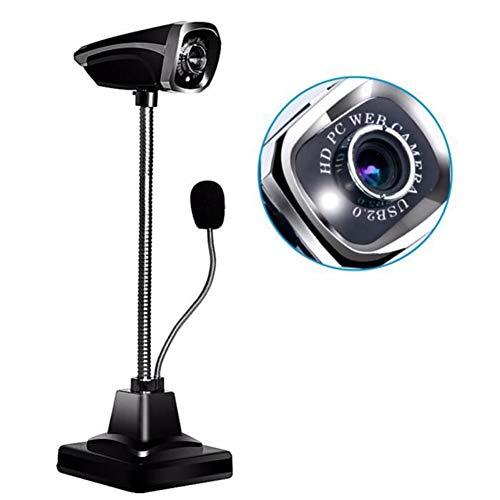 Kohyum Yissa HD Pro Webcam USB Plugand Play Desktop Laptop Computadora Cámara con micrófono USB HD LED Webcams Cámara…