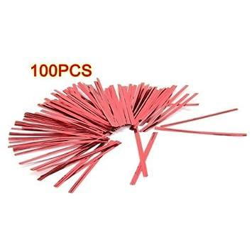 Nicedeal FACILLA-Lote de 100 Clips reg;, Hierro Twist Tie ...