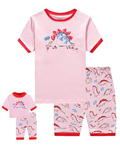 (Shorts Big Kids Pajamas Matching Doll & Girls Pajamas 100% Cotton Dinosaur Pjs Set Size 10 Fits American Girl )