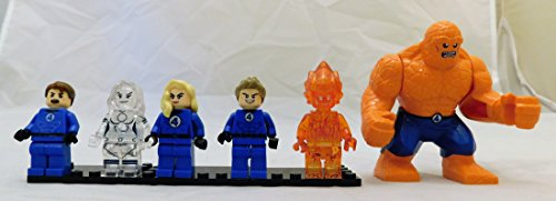 Fantastic Four Set of 6 Mini Figures w/Mr. Fantastic, Invisible Woman, Human Torch, and Extra Large Thing