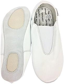 Tunturi Turn Shoes Chaussons de Gymnastique avec Semelle, Couleur Blanche Taille 36, Lot de 2 Mixte Adulte, White, 1 TUNTD|#Tunturi 14TUSTE118