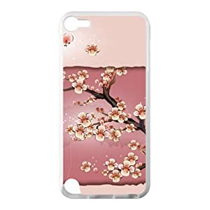 Cherry Blossom Tree design,Japanese sakura tree pattern iPod Touch 5 100% TPU (Laser Technology) Case Cover