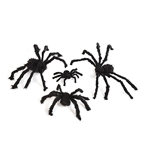 [New Red Eyes Scary Soft Plush Spider Toy Large for Halloween Decor Costume FX (30cm)] (Road Sign Halloween Costumes)