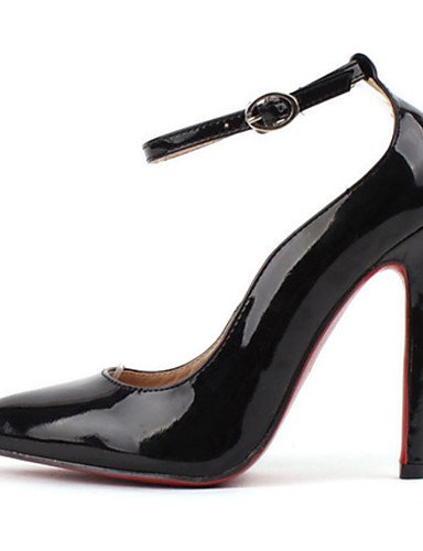 GGX/ Zapatos de mujer-Tacón Stiletto-Confort / Puntiagudos-Tacones-Boda / Vestido-PU-Negro / Almendra , black-us9 / eu40 / uk7 / cn41 , black-us9 / eu40 / uk7 / cn41 black-us6 / eu36 / uk4 / cn36