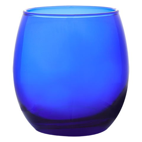 (Cobalt Blue Stemless Red Wine Chardonnay 11.5 ounce, Set of 4- Lowball, Rocks, Cocktails, Whiskey, Old Fashioned Glasses-)
