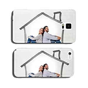 young couple dreaming of new house in real state concept cell phone cover case iPhone5