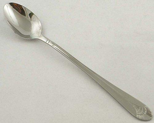 Adcraft 18/0 Stainless Steel Poppy Iced Teaspoon (PO-ITS) - 1 Dozen