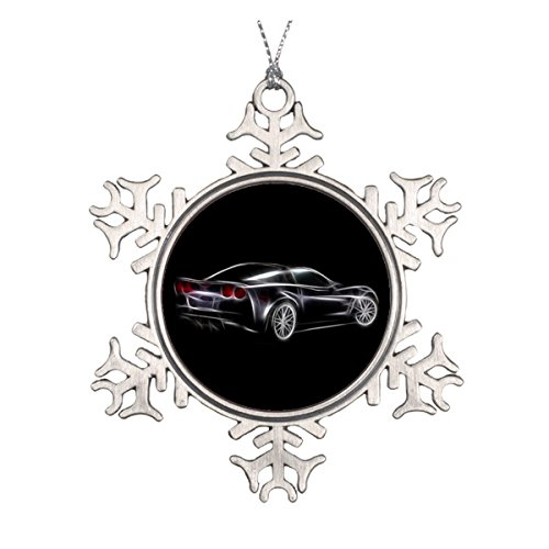 Chevy Chevrolet Corvette ZR1 Sports Car Ceramic Round Christmas (Corvette Stingray Ornament)