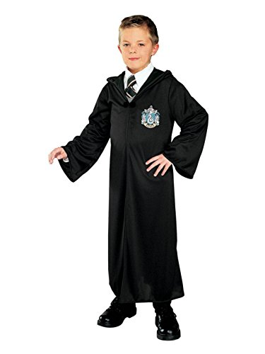 (Harry Potter and The Deathly Hallows Costume, Child's Robe with Slytherin Emblem Costume,)