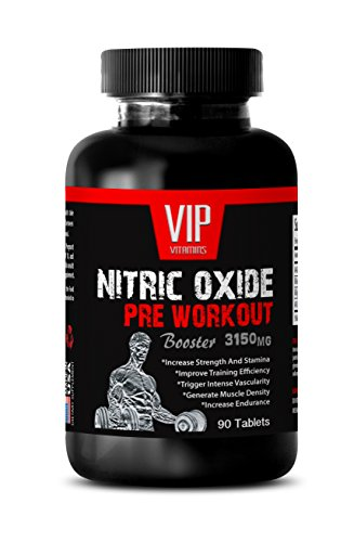 Nitric Oxide Powder Supplement – Nitric Oxide Pre-Workout Booster 3150mg – with L-Arginine (1 Bottle 90 Tablets)