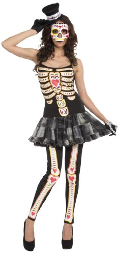 Halloween Costumes 1 Year Old Uk (Forum Women's Day Of The Dead Costume, Multi, Standard)