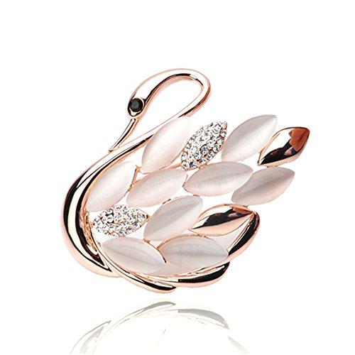 JewelBeauty Fashion Brooch Lapel Pin Shawl Clip Corsage in Crystal Rhinestone Alloy, Jewelry Gift for Women Men