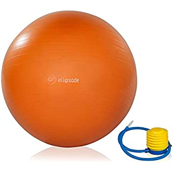 BPM Premium Exercise Ball with Pump Yoga Ball Access to Workout Guide Stability Ball Supports 2000lbs Heavy Duty Office Ball Chair Bonus Massage Ball Anti-Burst /& Extra Thick