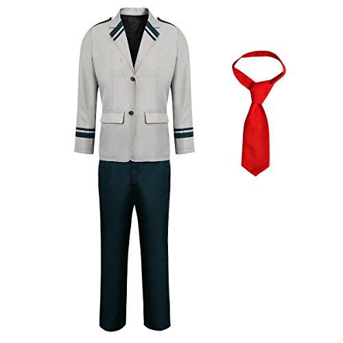 Partyever Men's My Hero Academia Boku No Hero Academia Cosplay Costume Izuku Ochako Tsuyu Blazer School Uniform -