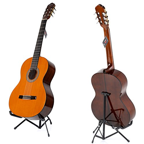 WINZZ 39 Inches Classical Guitar Full Size Nylon String Student Kids Acoustic Guitar with Bag, Tuner, Stand, - Nylon Guitar Stand