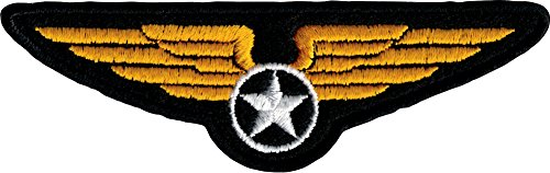 (Military Wings Crest - Embroidered Iron On or Sew On Patch)