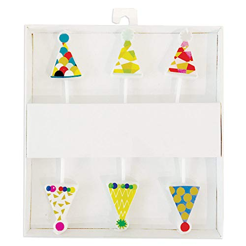 Caspari Party Hats Die-Cut Party & Birthday Candles, 24 Candles