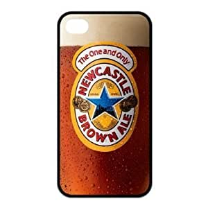 Newcastle Brown Ale-Bier Registrieren Snap On Iphone 4 / 4S Schwarz Silikonh??lle und wasserdicht Iphone 4 / 4S