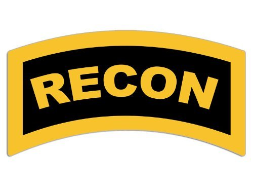 RECON Tab Sticker (decal military army marines)