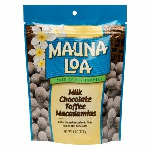 Macadamia Nut Toffee (Mauna Loa Milk Chocolate Toffee Macademia Nuts, 6 oz)