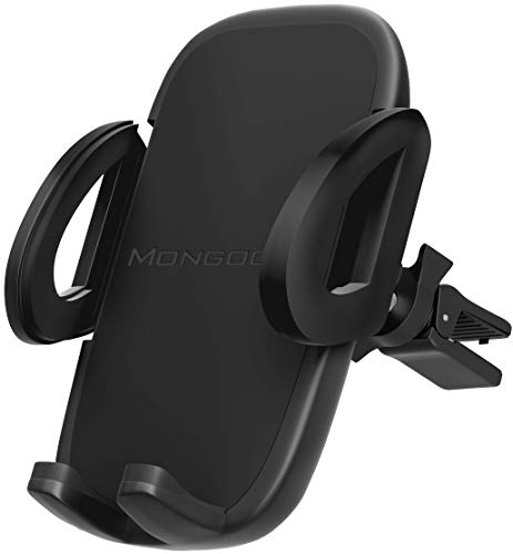 Universal Air Vent Car Phone Mount Holder - 2019 Updated Version by Mongoora - for Any Smartphone - Car Cell Phone Holder - Vent Phone Holder - Car Vent Mount - Air Vent Mount Holder - for Women Men. ()