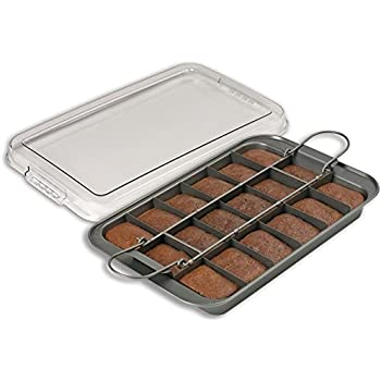 Amazon Com Chicago Metallic Slice Solutions Brownie Pan