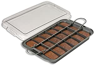 Chicago Metallic X50640 13 by 9 by 1-1/2-Inch Non-Stick Slice Solutions Brownie Pan with Lid