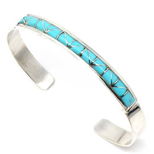 L7 Enterprises Turquoise Inlay Bracelet by Tuscon