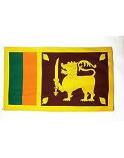 Sri Lanka Vlag 150x90 cm - Sri Lankaanse vlaggen 90 x 150 cm - Banner 3x5 ft Hoge kwaliteit - AZ FLAG