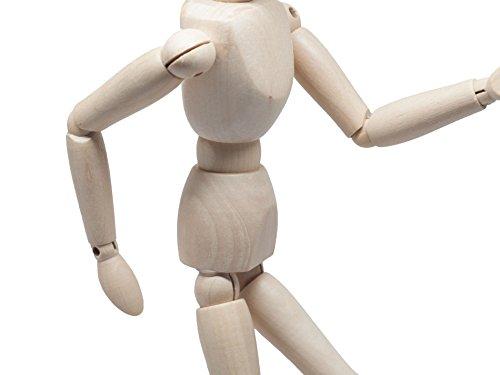 13 Inch Wood Mannequin Posable Flexible Art Drawing Wooden Mini Mannequin Man Model Manikin Sketching Figure Crafts DIY