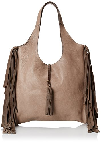 Frye Farrah Fringe Shoulder Bag Grey One Size