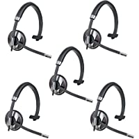 Plantronics Blackwire C710 Monaural USB Wired Headset- 5 Pack (Certified Refurbished)