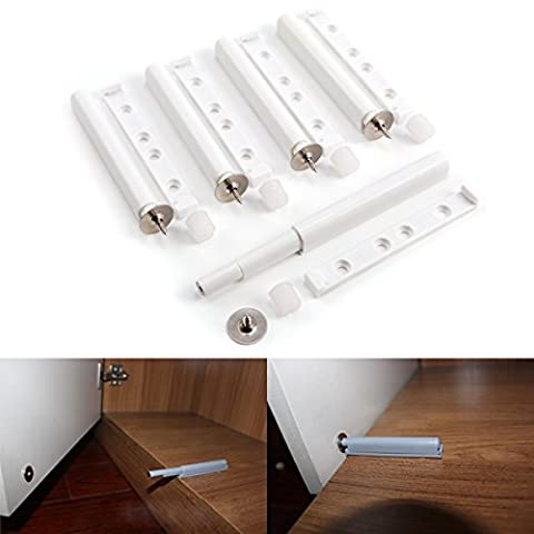 Anladia 5x Cabinet Kitchen Door Dampers Buffer Soft Closer Cushion Stops System 10x126mm - Close Damper Pull