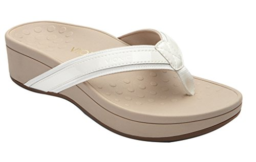 Vionic with Orthaheel High Tide Women's Sandal 6 C/D US White by Vionic