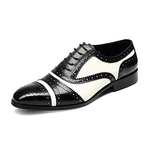 NIUMT Stile Britannico Affari Broch Trend Pointed Retro Lace-up Shoes Personality Black