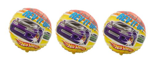 """Price comparison product image 3 Hot Wheels """"It's Your Birthday! Rev It Up!"""" Mylar Balloons"""