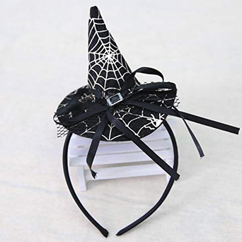 Jinxuny Halloween Headwear Pointy Witch Hat Hair Caps Clip Hairband Cosplay Party Props Decoration for Fancy Dress Costumes Accessory (Style : -