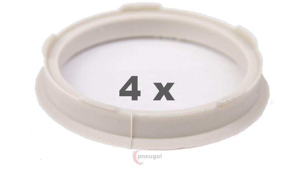 4 X Anello Di Centraggio 67.0 mm a 58.6 mm elfenbeingarben/ivorycoloured Pneugo