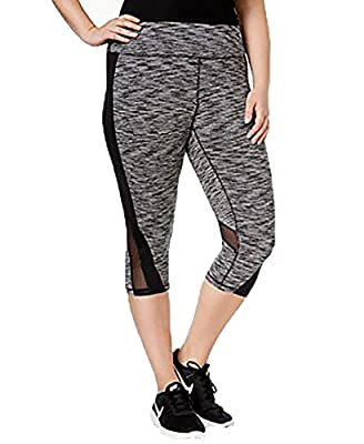 Ideology Plus Size Space-Dyed Cropped Active Leggings
