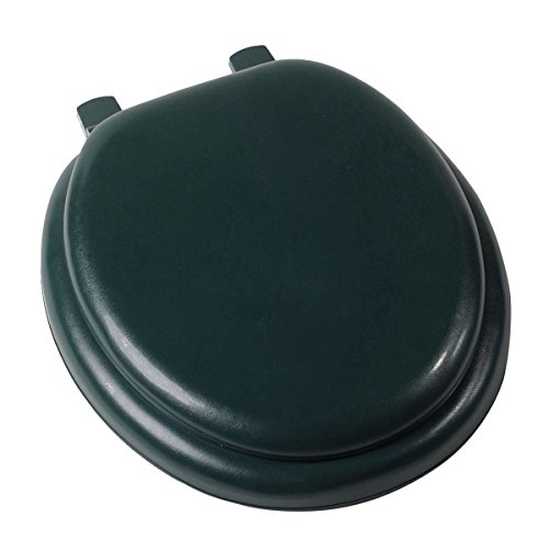 Solid Steel Baton (Trendy Durable Solid Wood Premium Hunter Forest Green Soft Padded Round Toilet Seat Cushioned Embossed Vinyl Cover Great For Your Home Toilet)
