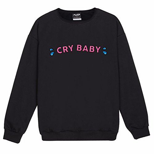 5b8f651d627 MINGA LONDON Cry Baby Sweater Top Women s Fun Kawaii