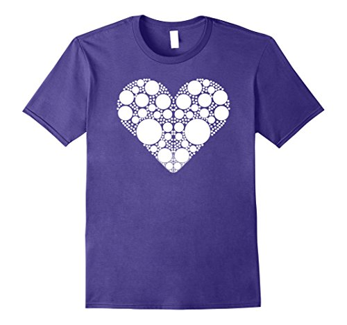 Mens White Polka Dot Heart | Polka Dot Shirt Girls & Women Large Purple Polka Dot Heart T-shirt