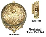 Recreated Interior Mechanical Victorian Twist Doorbell SET (Z183S4-PB)