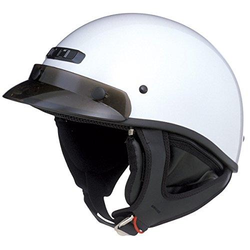 GMax GM35 Fully Dressed Pearl White Half Helmet - X-Large (Helmet White Half)