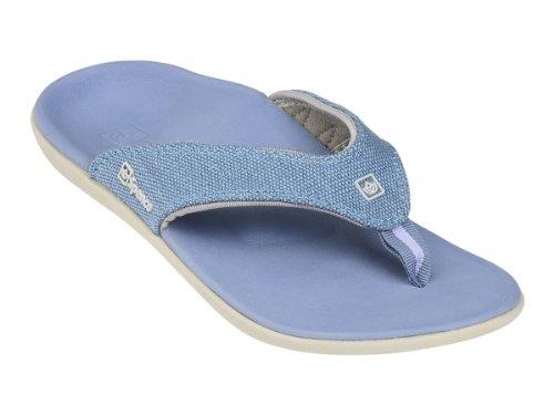 Spenco Yumi Canvas Thong Sandals, Ocean, 11 M/B (Thongs Canvas)