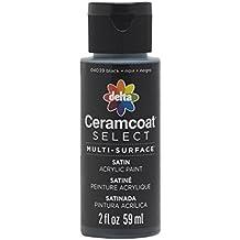 Plaid Delta 04039 Ceramcoat Select Multi-Surface Paint, 2 oz, Black