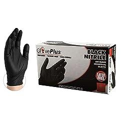 GlovePlus Industrial Black Nitrile Glove...