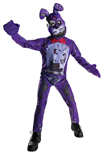 Five Nights At Freddy's Costume (Rubie's Costume Boys Five Nights At Freddy's Nightmare Bonnie The Rabbit Costume, Large, Multicolor)