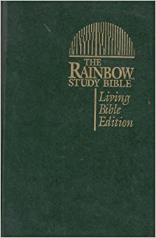 Book The Rainbow Study Bible: Living Bible Edition (Green Imitation Leather) by Bible (1994-12-24)
